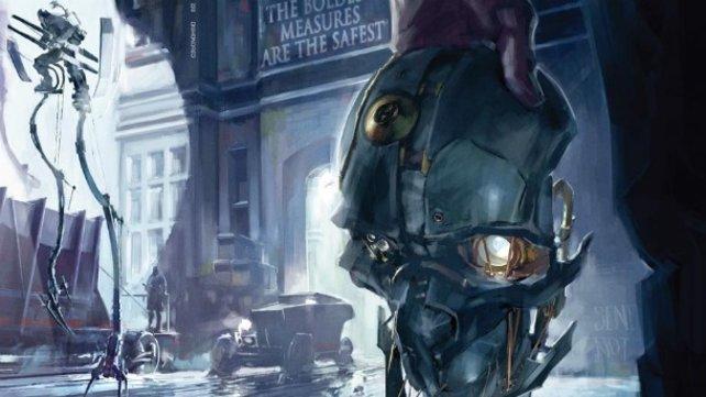 Diese Konzeptzeichnung zeigt die Welt von Dishonored.