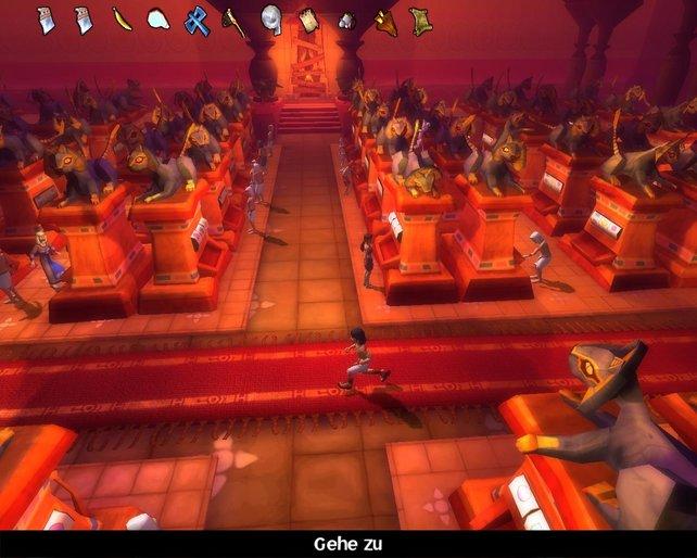 Zocken im heiligen Tempel, solange es genug Opfergaben gibt kein Problem.