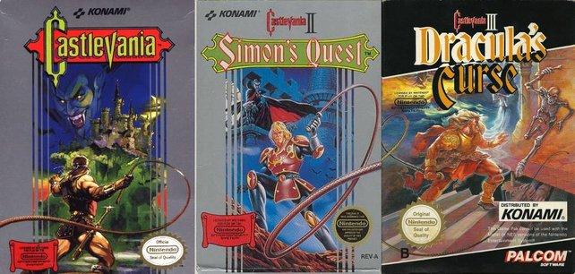 Die drei NES-Castlevanias in trauter Dreieinigkeit.