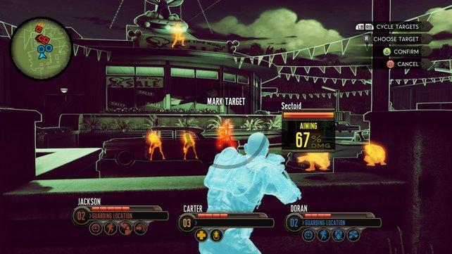 """Im zuschaltbaren """"Battle Focus"""" erteilt ihr der Mannschaft Befehle und entdeckt versteckte Feinde."""