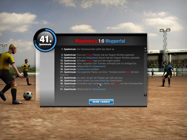 Ein Ticker informiert über den unkontrollierbaren Spielverkauf