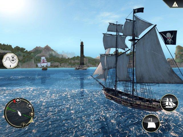 Dank eigenem Piratenschiff bereist ihr viele malerische Karibikinseln.