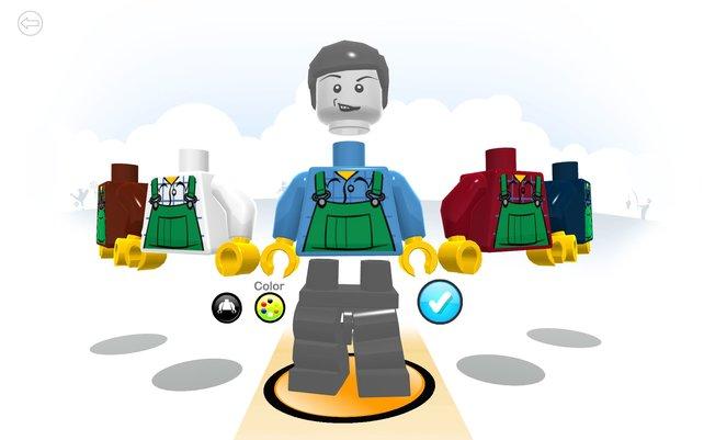 Erst die Arbeit, dann das Vergnügen. Ihr baut euch einen Lego-Avatar.