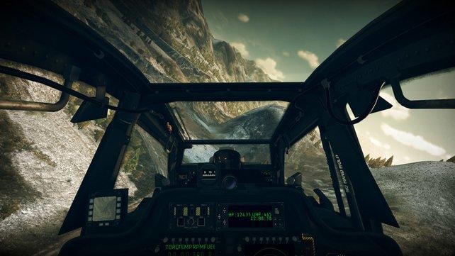 Aus dem Cockpit sieht man zwar weniger, der Realismus steigt jedoch extrem.