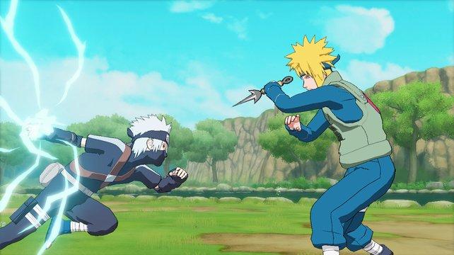 Der junge Kakashi und sein Lehrer Minato sind mit von der Partie.