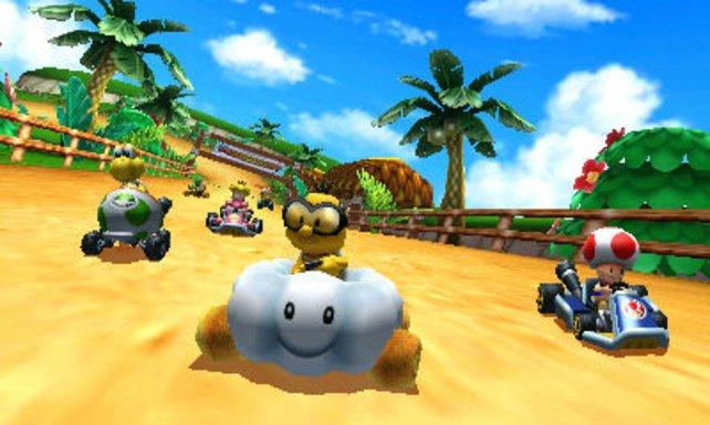 Rennspaß pur in Mario Kart 7.