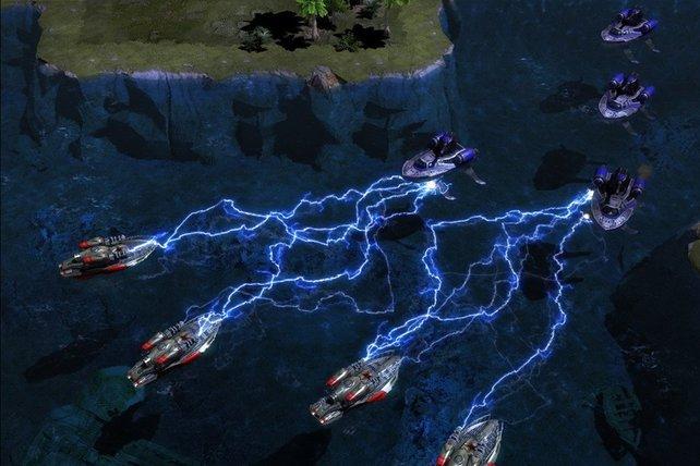 Dieses Mal kommen Teslaspulen sogar auf Booten zum Einsatz