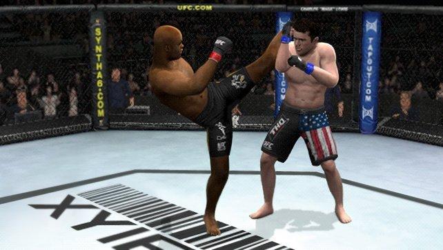 Im Fußball verboten, in UFC erlaubt: Das hohe Bein.