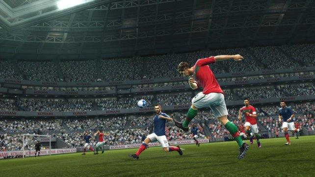 Die Spieler verfügen über einige neue Animationen, hinken FIFA aber hinterher.