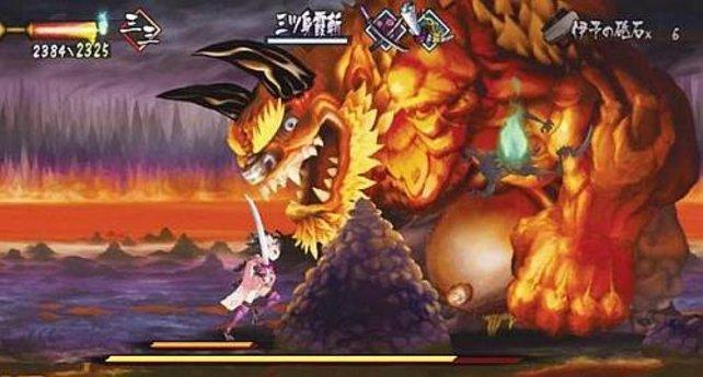 Egal wie schwer die Gegner sind und wie fies sie aussehen, Momohime schlägt sie zu Boden.