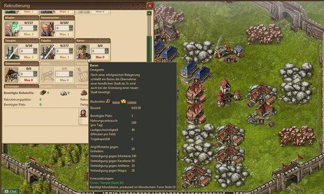 Jede Einheit hat Stärken und Achillesfersen. Berittene brauchen außerdem mehr Nahrung - logisch, der Gaul futtert mit.