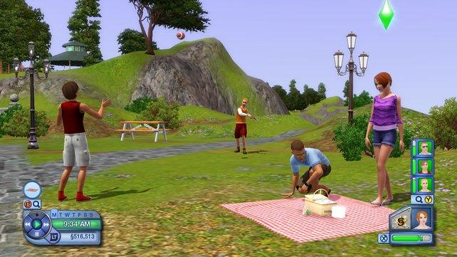 Ein romantisches Picknick oder Sport treiben? Erfüllt die Wünsche eures Sims, damit er glücklich sein kann.