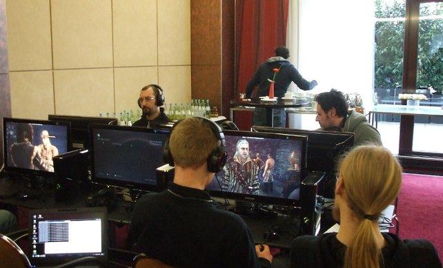Probespiel von Witcher 2 auf Xbox 360.