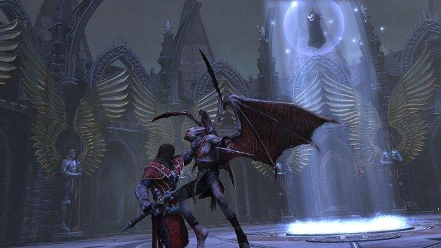 Gabriel packt den Dämonen an der Gurgel.