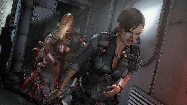 Nicht immer ist die Elite-Polizistin so schlecht gelaunt wie hier (Resident Evil).
