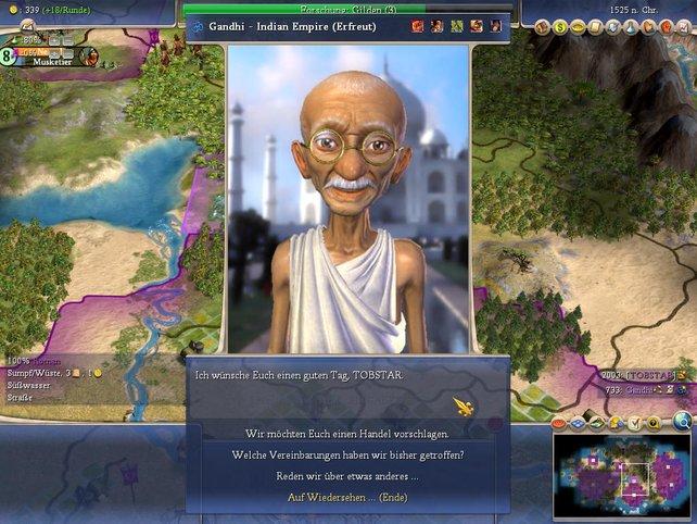 Handel mit Ghandi
