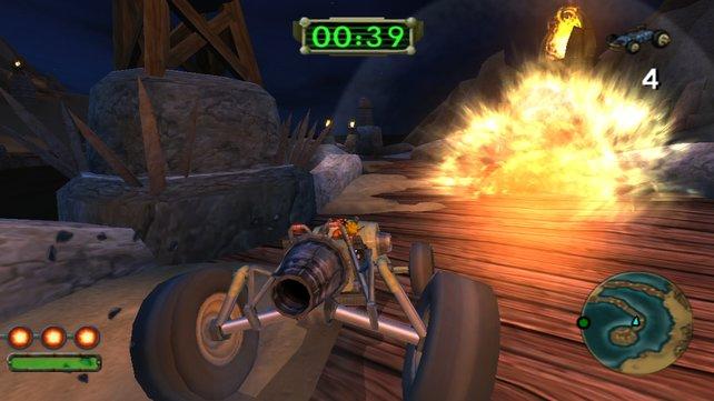 In den Rennen geht es hoch explosiv zur Sache!
