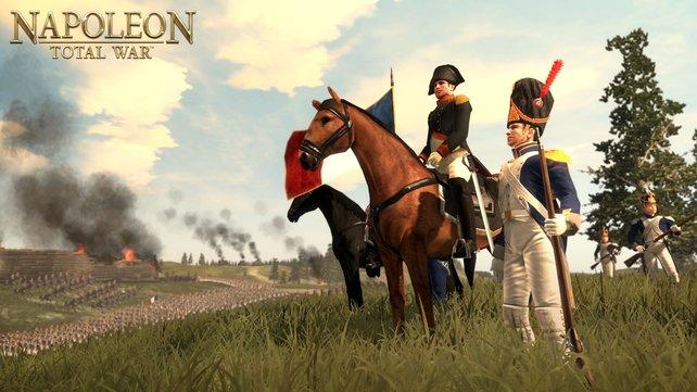 Der berühmte Feldherr, natürlich zu Pferd - so wirkt man einfach größer.