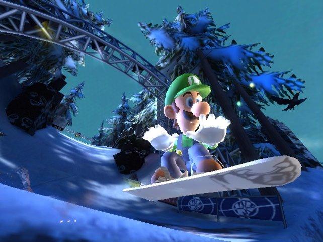 Luigi in dem Gamecube-Spiel SSX On Tour - nur eine der abseitigen Rollen, die die Brüder in ihrer hektischsten Zeit übernommen haben.