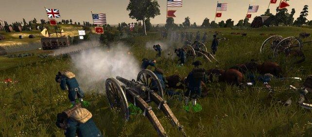 Dezimiert den Feind zu Beginn einer Schlacht mit Kanonenangriffen.