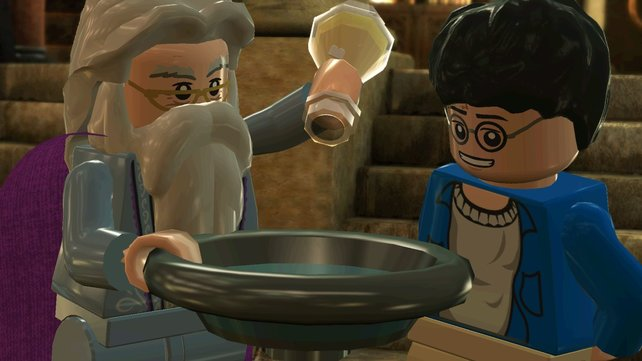 Harry staunt auch im Spiel nicht schlecht über Dumbledores Wissen und Künste.