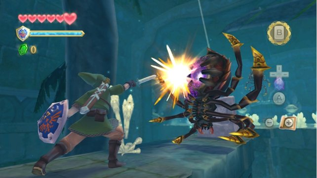 Mit exakter Schwertsteuerung will Skyward Sword Spieler begeistern.