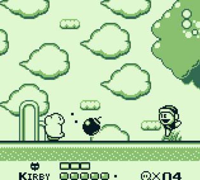 Beim Aufsaugen macht Kirby keine halben Sachen - da wird auch mal eine Bombe verschluckt.