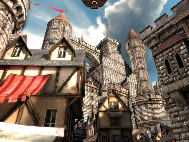 Die Grafikdemonstration Epic Citadel besitzt eine höhere Bildrate und eine schärfere Kulisse.