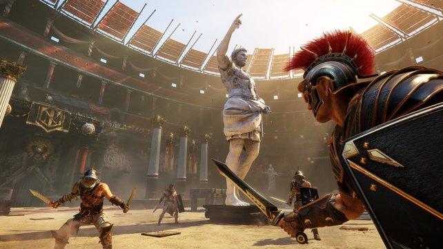 In der Arena stellt ihr euch blutigen Auseinandersetzungen, die ihr mithilfe anderer Spieler bestreitet.