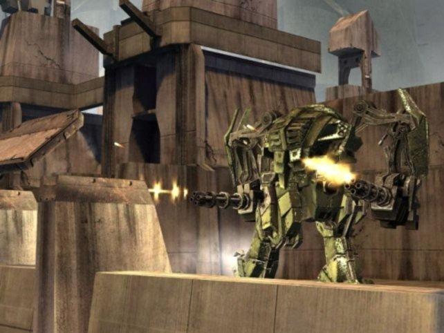 Eines der mächtigen, steuerbaren Exoskeletons
