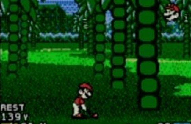Mario Golf in der GBC-Version. Neben Charakteren lassen sich auch andere Spielerdaten auf das N64 übertragen.