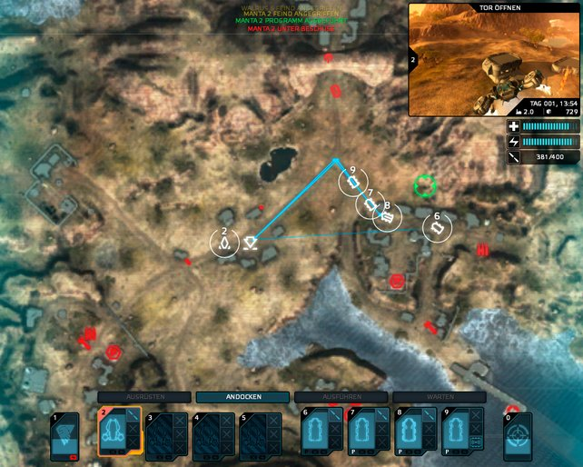 Auf der taktischen Karte kommandiert ihr eure orientierungslosen Einheiten.