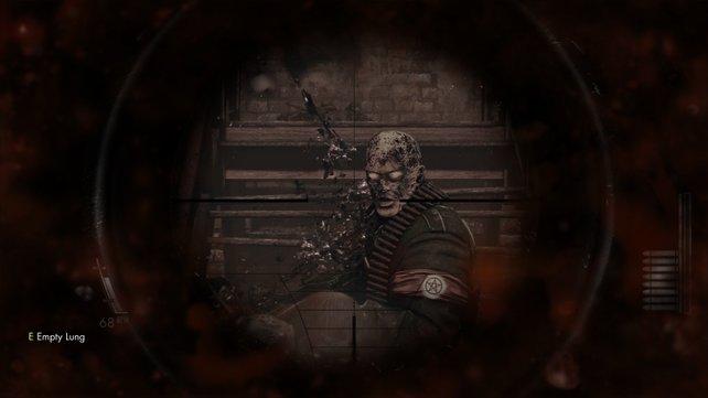 Der Maschinengewehr-Zombie steckt ordentlich ein.