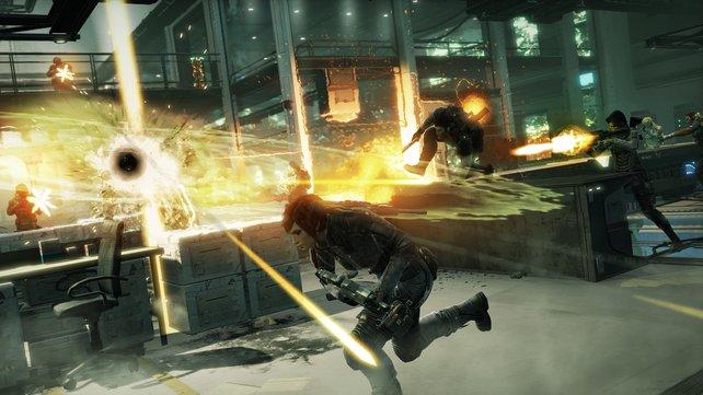 Die von Naya verursachten Explosionen reißen viele Gegner mit in den Tod.