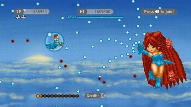 Grafisch orientiert sich Kyotokei am Konami-Klassiker Parodius.