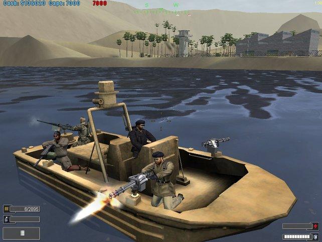 Nun ist auch das steuern von Speedbooten möglich.