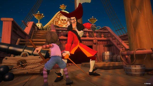 Ein Kampf mit Captain Hook gefällig? Schaltet einfach Kinect an.