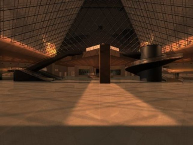 Der Louvre von innen.