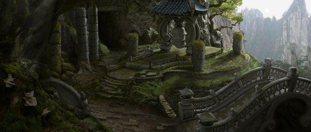 Landschaft und Architektur sind asiatisch geprägt.