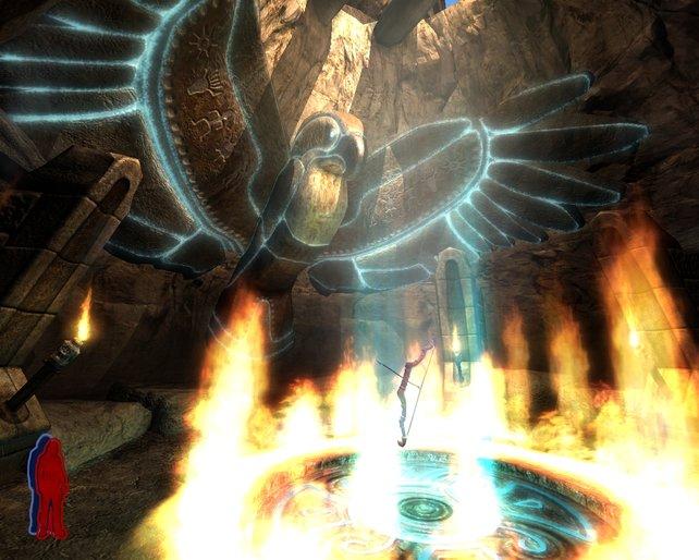 Die Höhle der Geister. Hier gibt es den Bogen und viel Wissen
