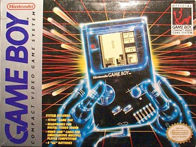 Die Werbung stellt den Game Boy 1989 möglichst futuristisch dar.