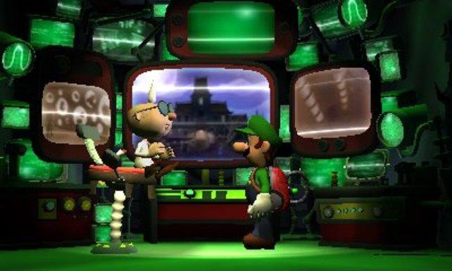 Professor I.Gidd schickt den ängstlichen Luigi erneut auf Geisterjagd.