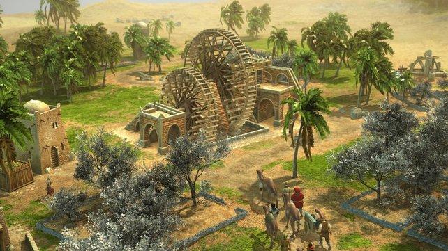 Wüstensand muss mit Bewässerungsanlagen fruchtbar gemacht werden.