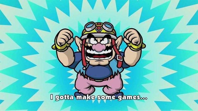 Wario will wieder durch Videospiele Reichtum anhäufen.