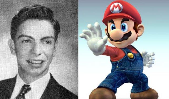 Mario Segale und Super Mario. Höchstwahrscheinlich geht Marios Name auf den amerikanischen Geschäftsmann zurück.