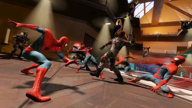 Spidermans Schnelligkeit erinnert an Narutos Spezial-Attacke.