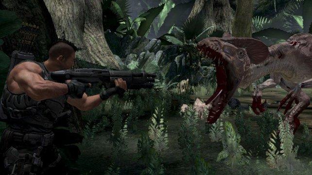 Munition ist gegen die Dinos meist Verschwendung, das Messer ist besser.