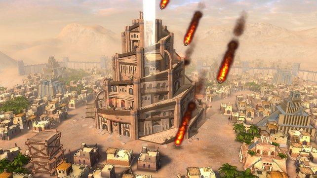 Mit göttlicher Macht hindert ihr die Menschen am Turmbau.