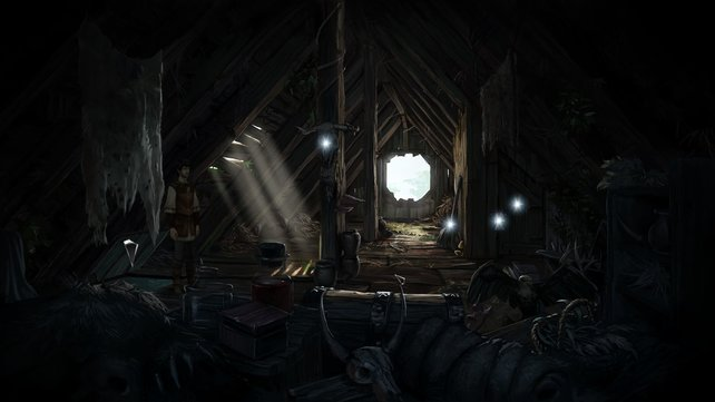 Nach einem Klick auf die Leertaste werden sämtliche potenziell spielrelevanten Objekte angezeigt.