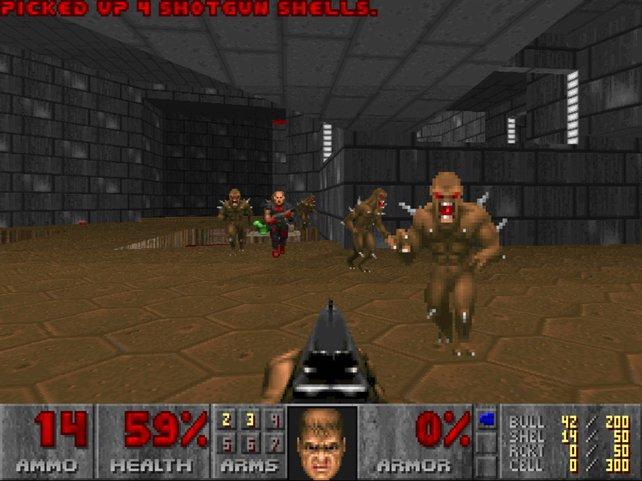 Hervorragende Spielbarkeit und ausgereifte Technik machen Doom zum Hit.